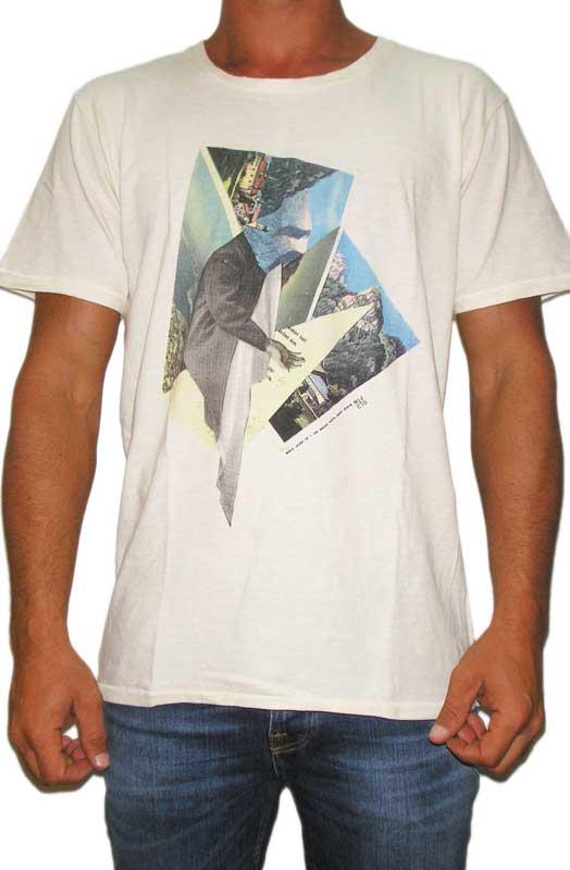 Nudie jeans ανδρικό t-shirt print εκρού