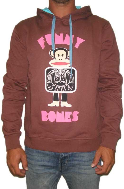 Paul Frank Julius funny bones ανδρική φούτερ μπλούζα καφέ - 20003-br