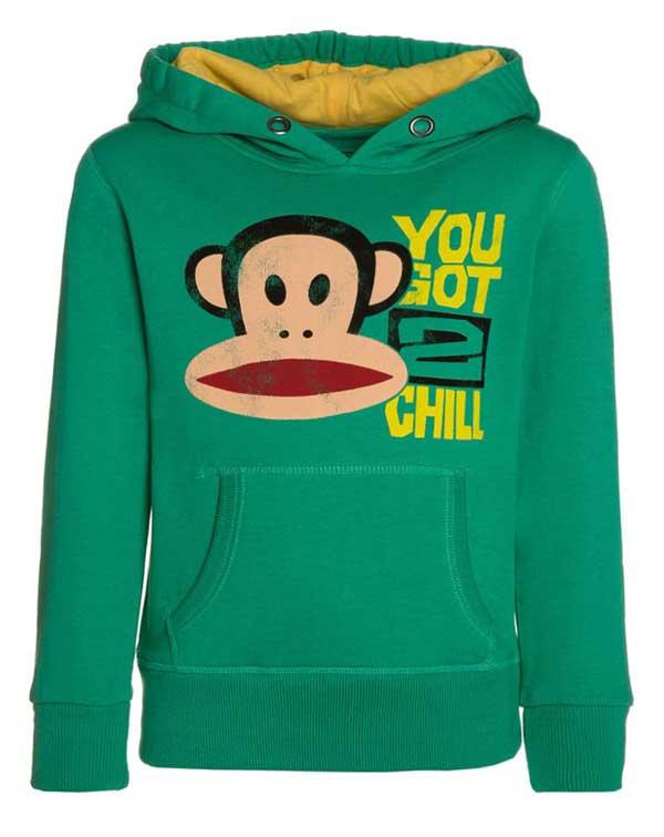 Paul Frank παιδικό φούτερ με κουκούλα πράσινο