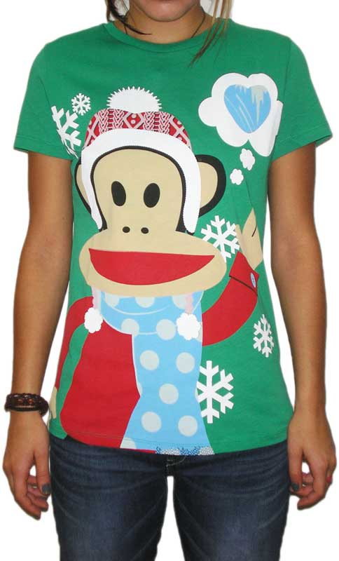Paul Frank γυναικείο t-shirt Julius winter time πράσινο