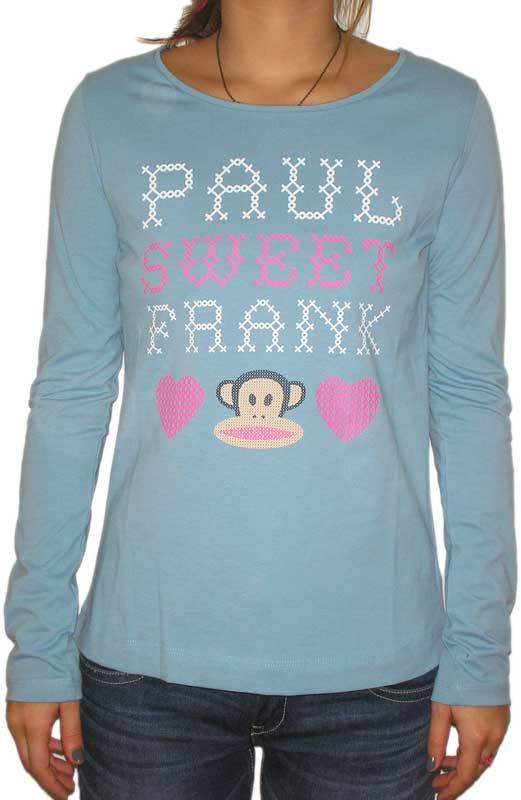 Paul Frank γυναικεία μακρυμάνικη μπλούζα Julius γαλάζια - 63003-lbl