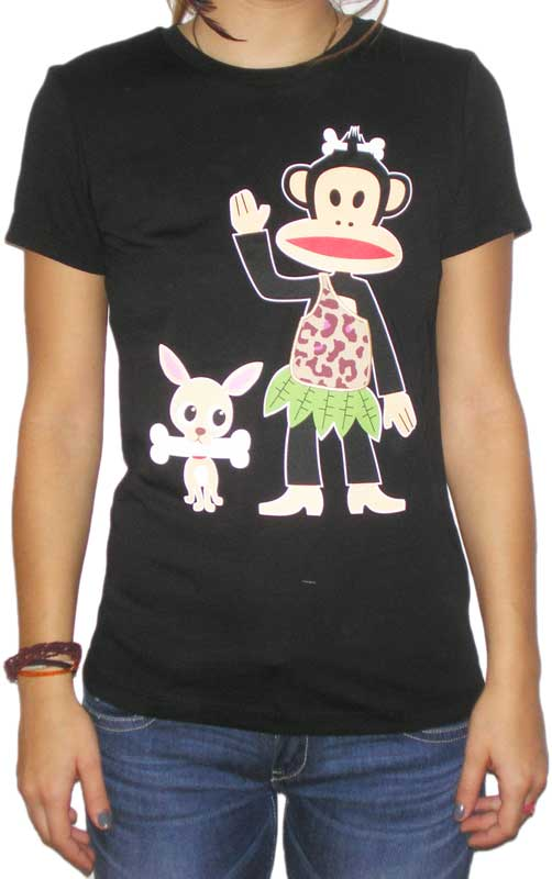 Paul Frank γυναικείο t-shirt Julius savage μαύρο - 60006-blk