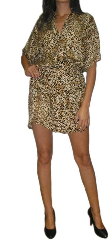 Ruby Rocks γυναικείο φόρεμα 80s με animal print