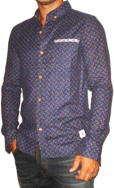 Bellfield ανδρικό πουκάμισο Gogol navy με λαχούρια