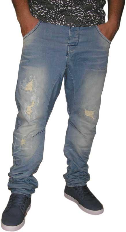 Humor Zuniga ανδρικό jean ξεβαμμένο με σκισίματα - 8215502