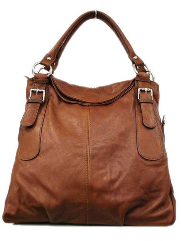 8cf78070fd Γυναικεία δερμάτινη τσάντα χειρός καφέ