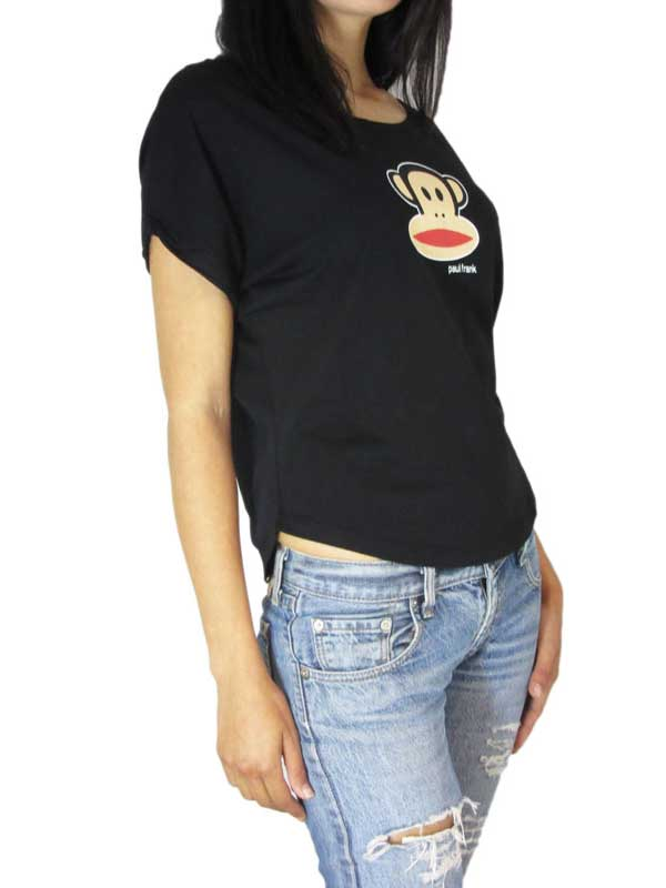 Paul Frank Julius head γυναικείο crop t-shirt μαύρο