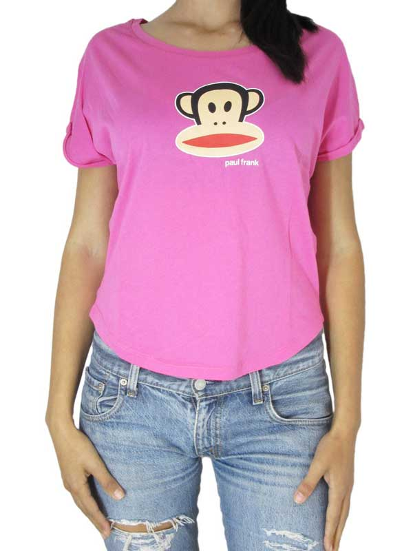 Paul Frank Julius head γυναικείο crop t-shirt ροζ