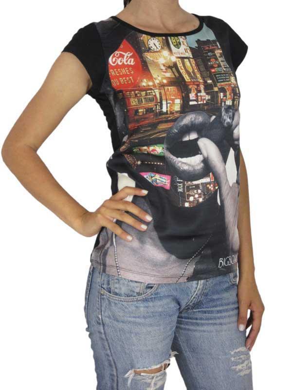 Bigbong γυναικείο t-shirt μαύρο με στάμπα - w-1-03