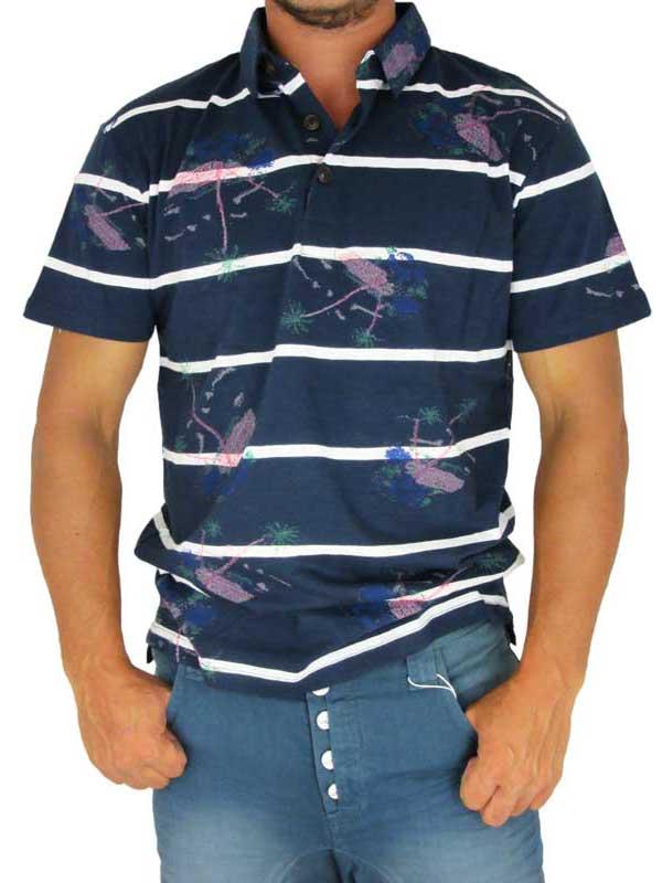 Humor ανδρικό πόλο μπλουζάκι Ralf σε μπλε