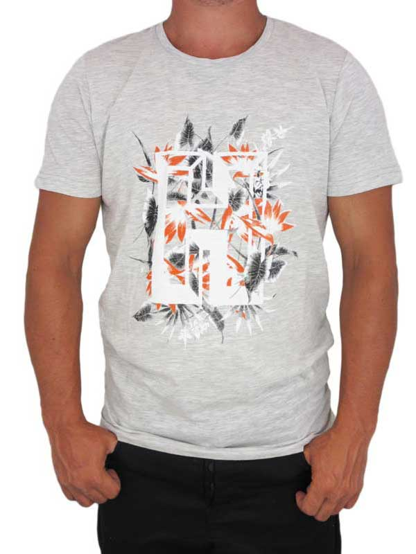 Humor ανδρικό T-shirt Karlzon γκρι μελανζέ