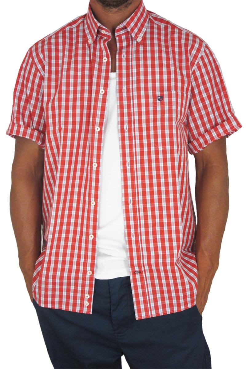 Jazzy ανδρικό πουκάμισο καρό κόκκινο Veneto ανδρικα   πουκάμισα
