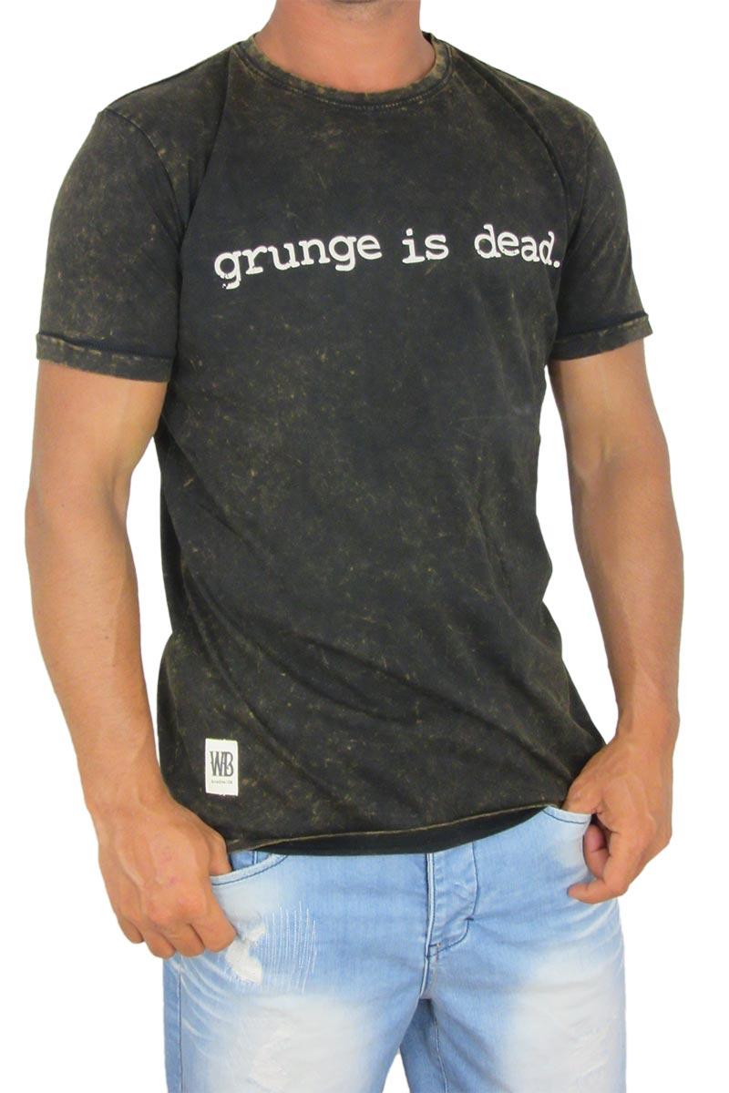 Black t shirt grunge - Worn By Men S Black Stonewash T Shirt Grunge Is Dead