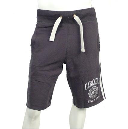 Cabaneli shorts mousegray-white