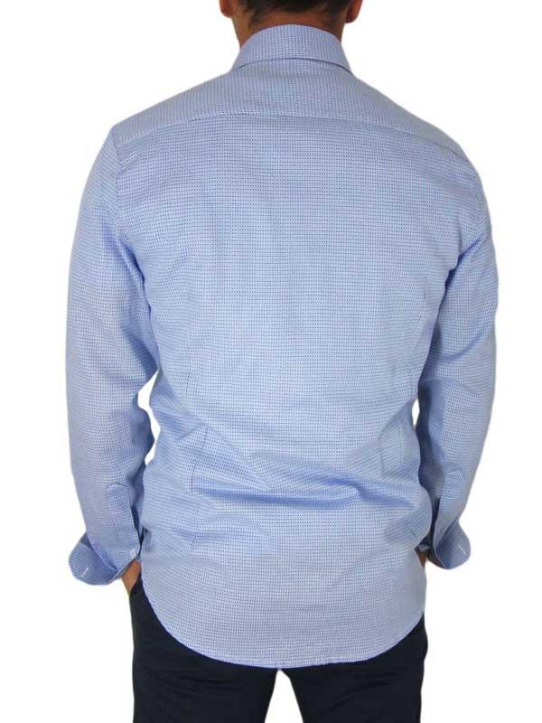 dab4d637aa4d Missone ανδρικό πουκάμισο γαλάζιο με μικρούς ρόμβους