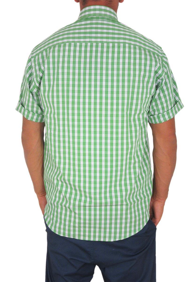 494077e2575f Jazzy ανδρικό πουκάμισο καρό πράσινο Veneto