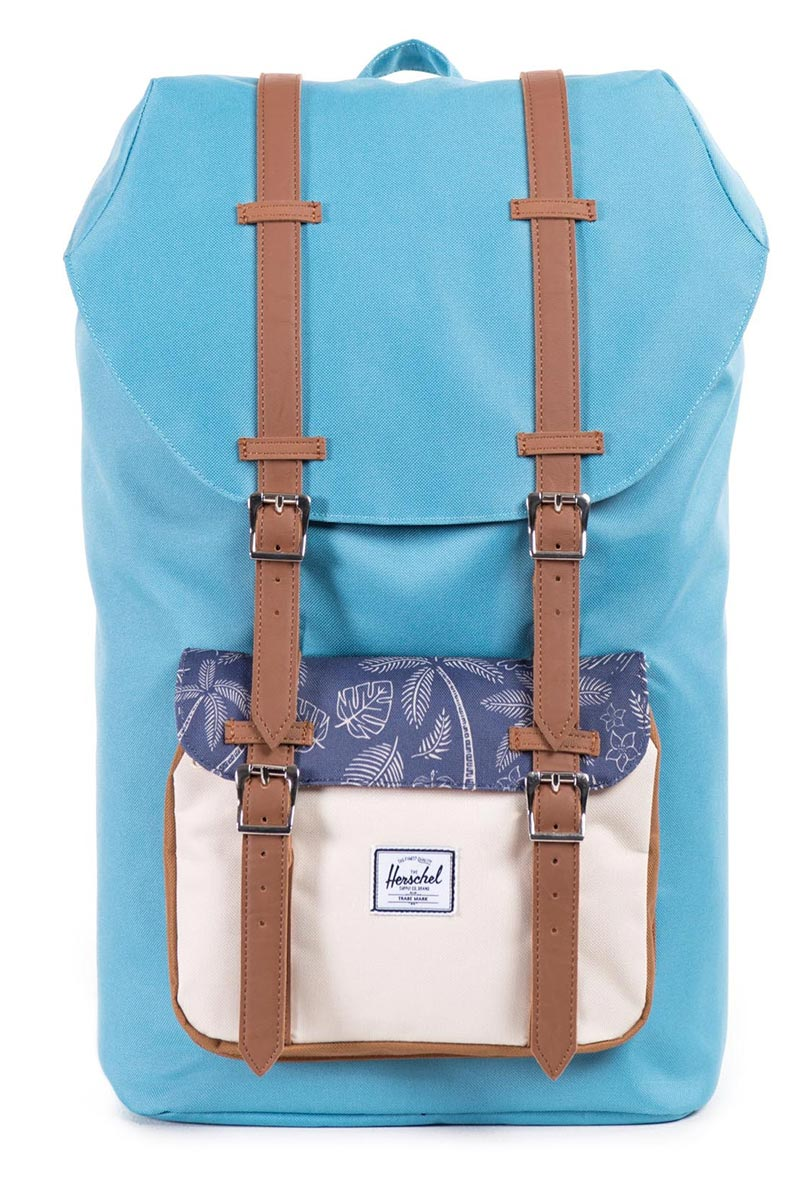 195e45b289a Herschel Supply Co. Little America Classic backpack Shallow Sea Natural  Kingston Caramel