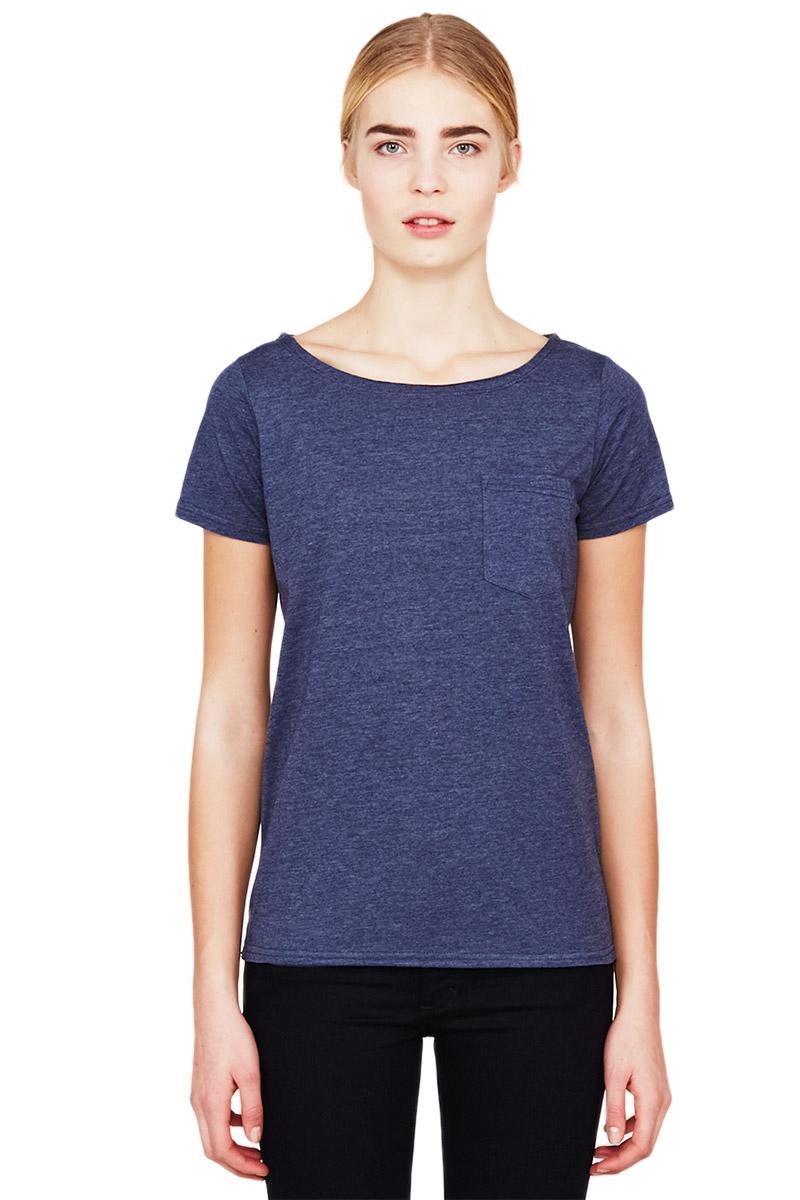 Minimum γυναικείο t-shirt Alzena μπλε μελανζέ