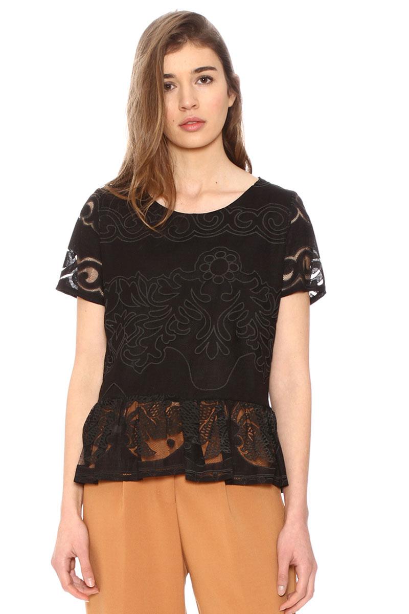 Pepaloves γυναικεία burnout μπλούζα μαύρη