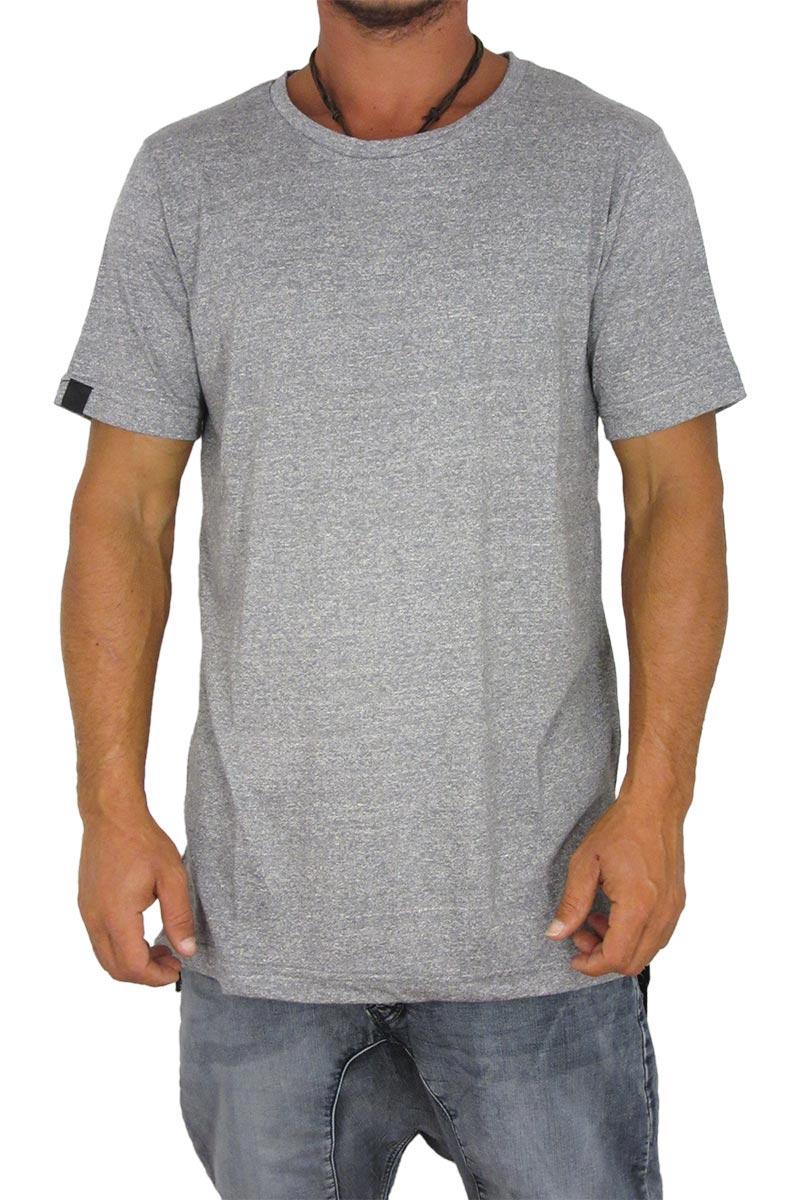 Humor ανδρικό longline t-shirt Felix γκρι μελανζέ image
