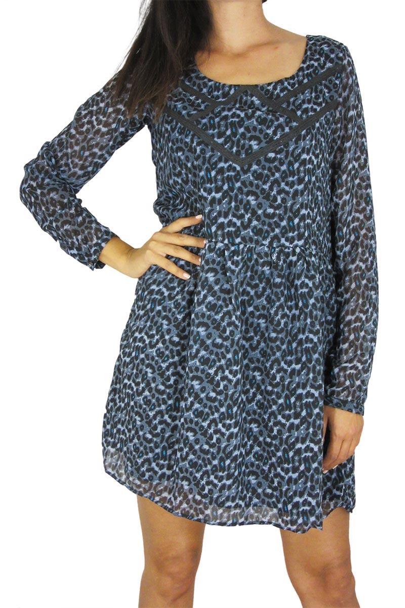 Mismash smock φόρεμα Apposite μπλε άνιμαλ πριντ γυναικεια     φορέματα