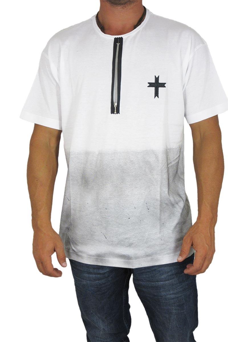 Crossover ανδρική μπλούζα λευκή