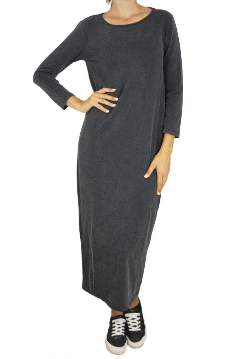 Minimum μάξι φόρεμα Majsa σε ανθρακί γυναικεια     φορέματα