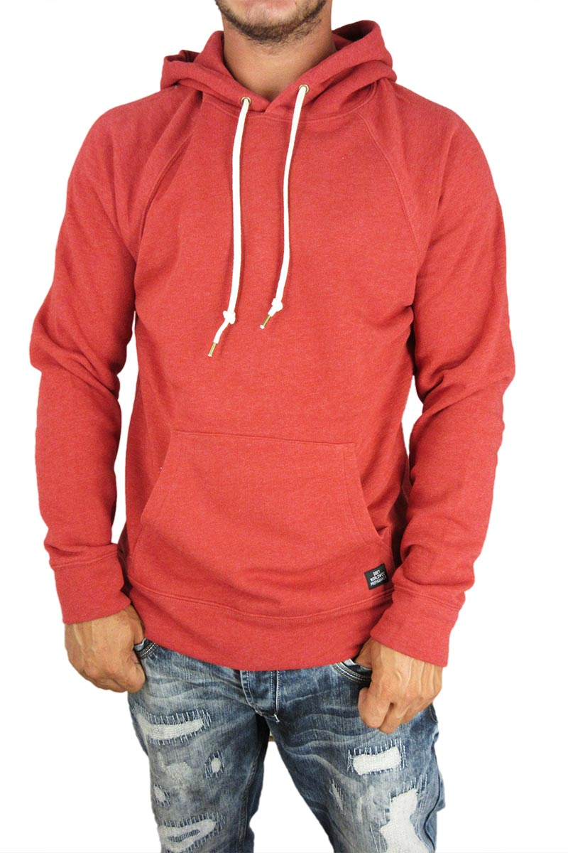 Obey ανδρικό φούτερ κουκούλα Lofty creature κόκκινο μελανζέ - 111610000