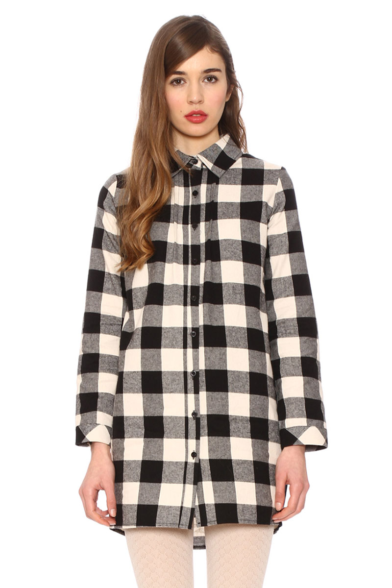 f6213574d4b8 Pepaloves πουκάμισο-φόρεμα ασπρόμαυρο καρό