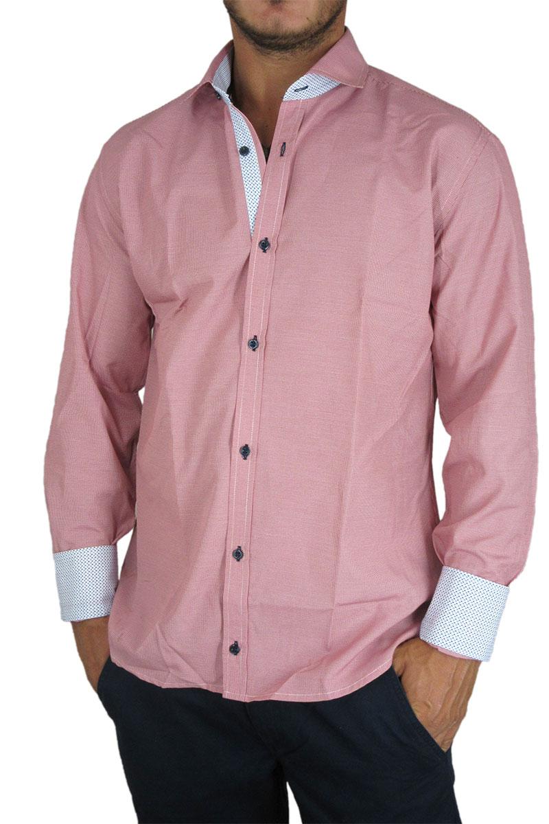 853da6103f87 Bades Shirts ανδρικό πουκάμισο ψιλό καρό κόκκινο