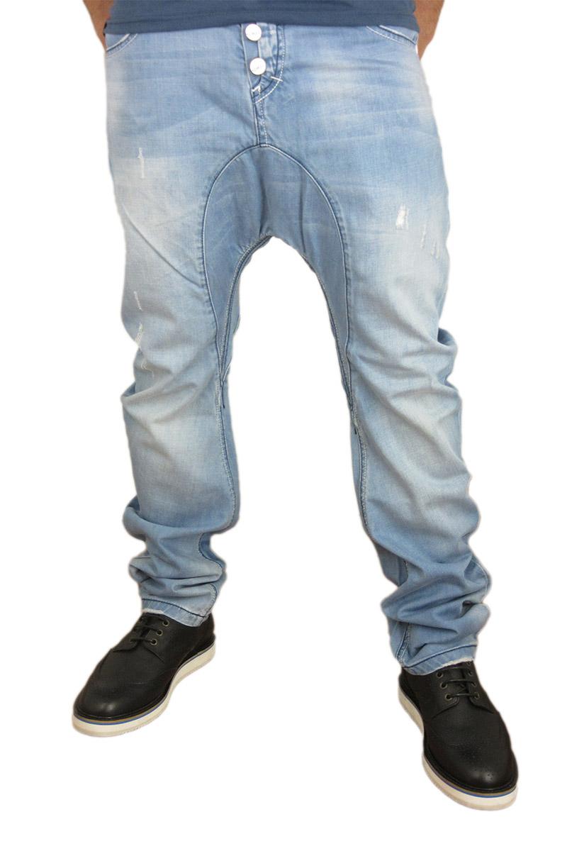 Humor Santiago jeans ξεβαμμένο με εκδορές ανδρικα   jeans