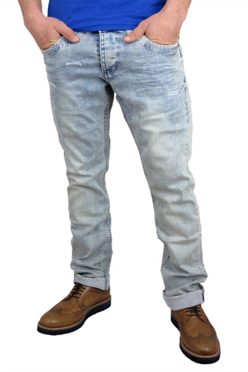 Ανδρικό jean ξεβαμμένο με εκδορές - rc-1079