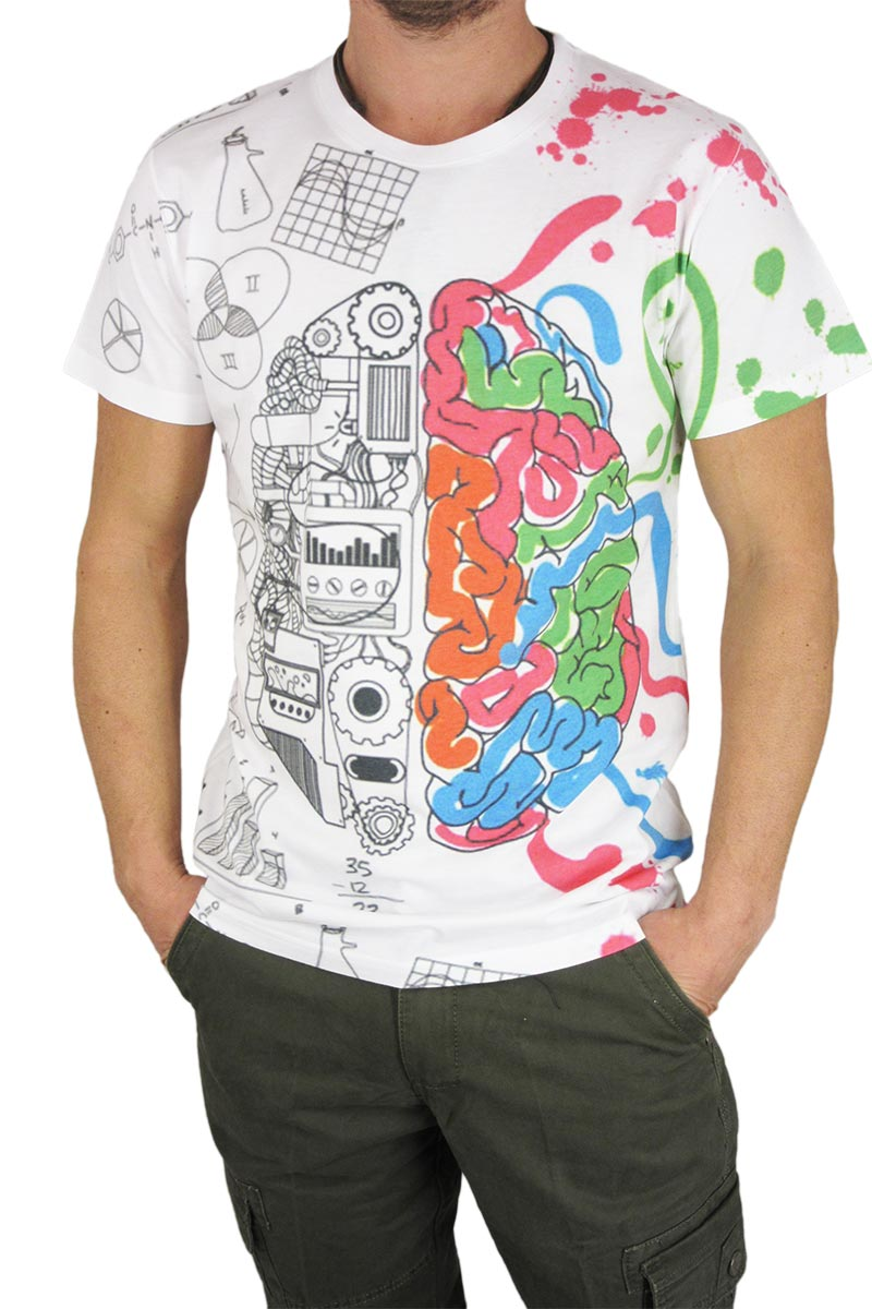 Smartness lab ανδρικό t-shirt Brain print