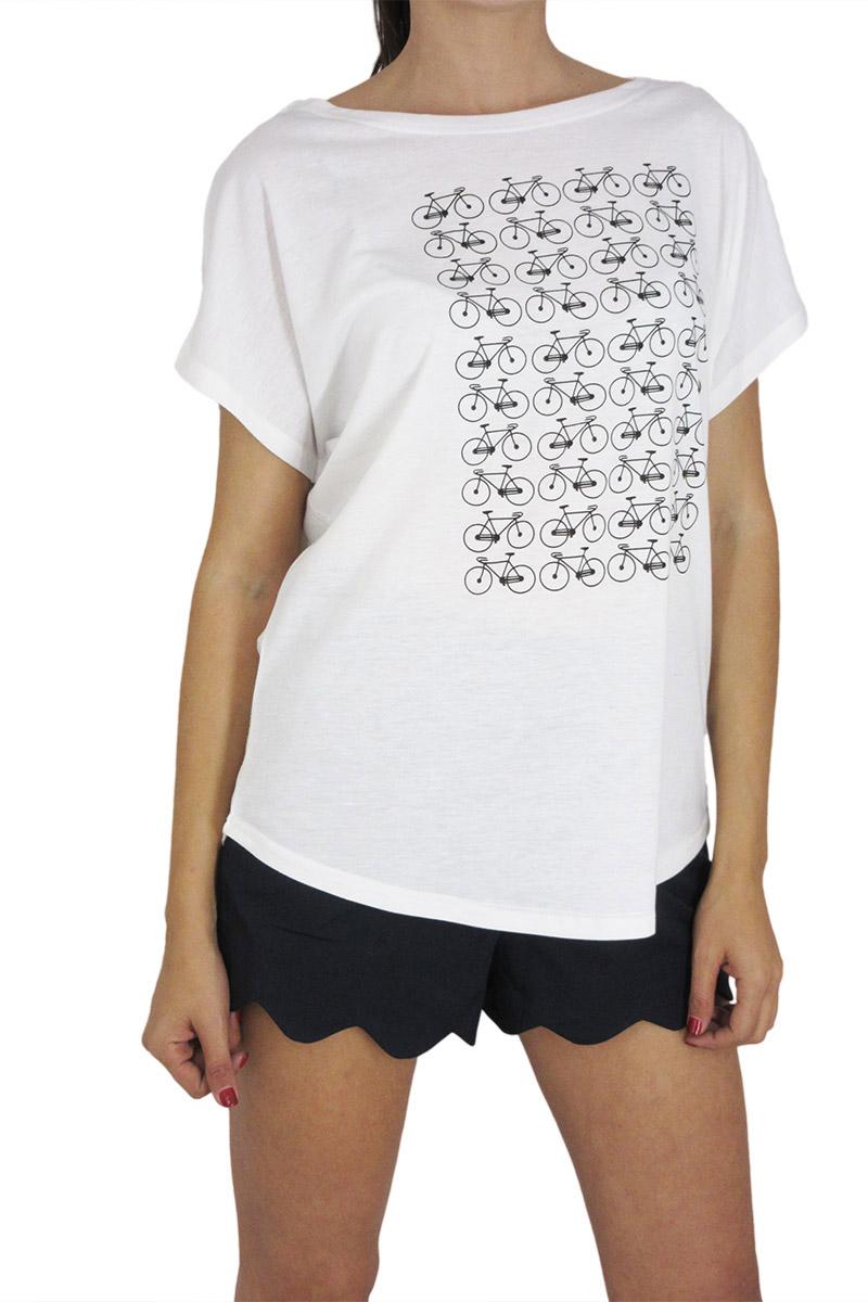 Migle + me γυναικεία κοντομάνικη μπλούζα πριντ ποδήλατα