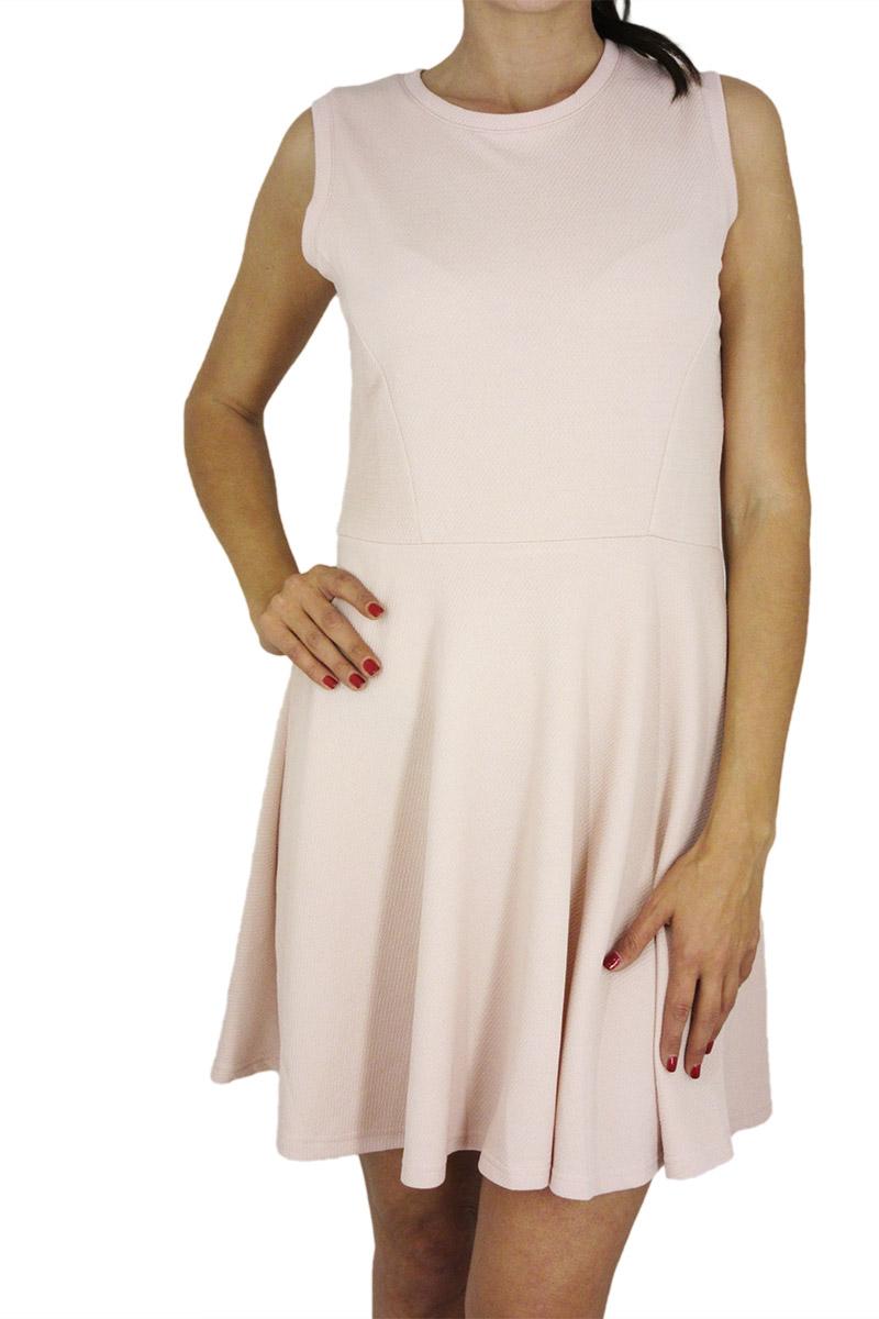 Migle + me κλος φόρεμα ροζ αμάνικο με καρδιά πλάτη - la-229qr