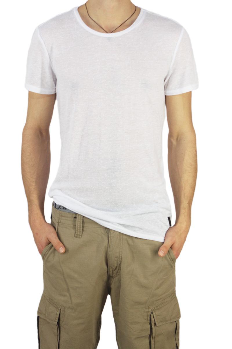 Anerkjendt ανδρικό longline t-shirt Tolvar λευκό