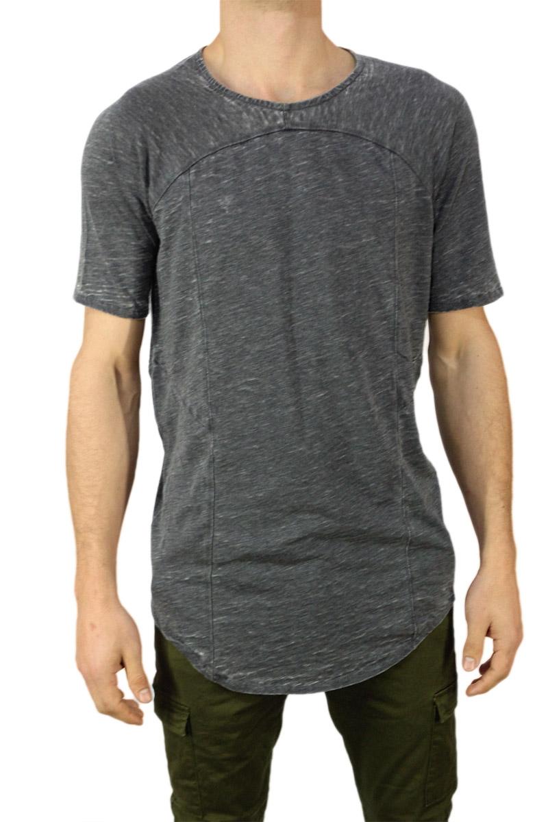Anerkjendt longline t-shirt Tube σκούρο γκρι μελανζέ