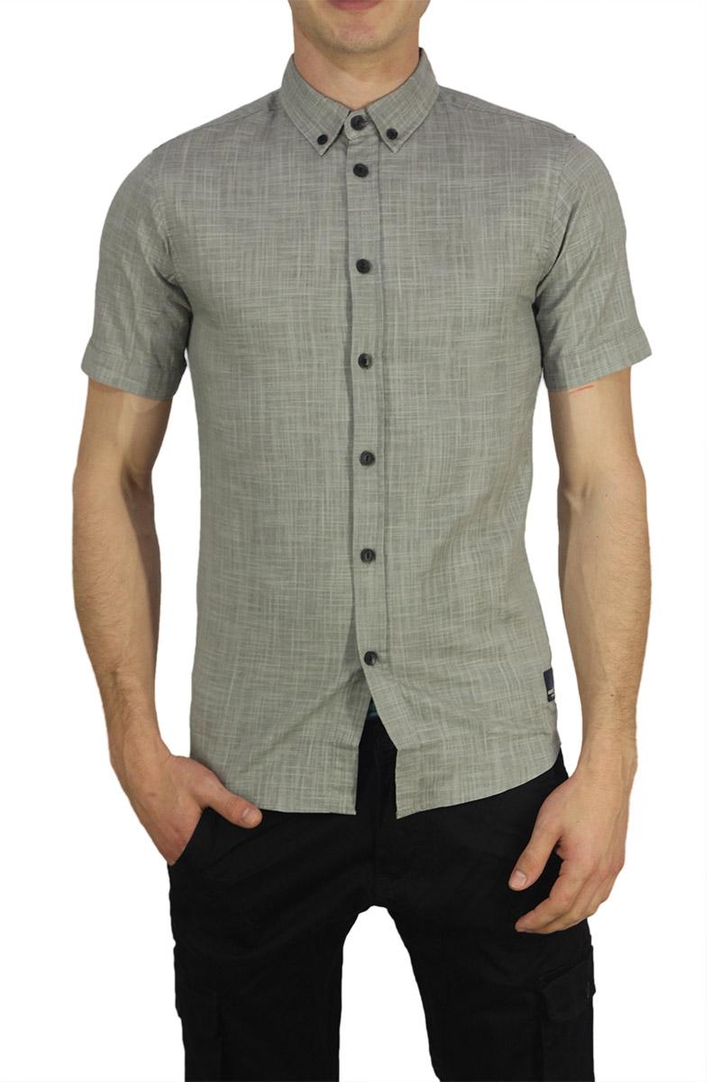 b5de74ca9e62 Anerkjendt κοντομάνικο πουκάμισο Petrus γκρι αρζάν