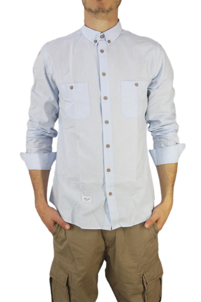 Reell ανδρικό πουκάμισο Summer γαλάζιο