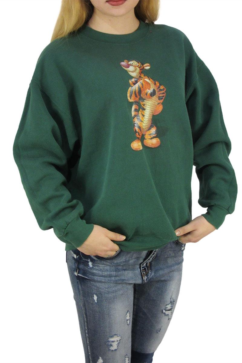 8b73cc8018b Vintage φούτερ πράσινο με Disney Tiger print - vs-0671