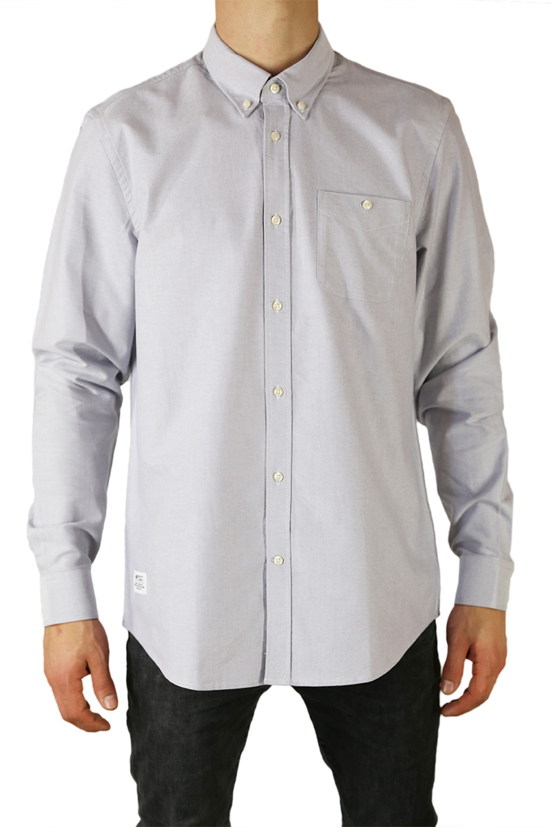 85e1d275e46b Wesc ανδρικό μακρυμάνικο πουκάμισο oxford Oden γκρι - 161we-00007-gr