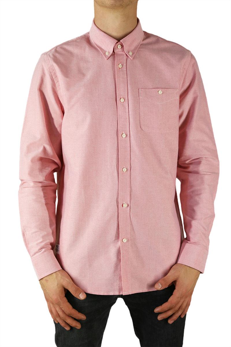 9874de8cf847 Wesc ανδρικό μακρυμάνικο πουκάμισο oxford Oden ροζ - 161we-00007-pi