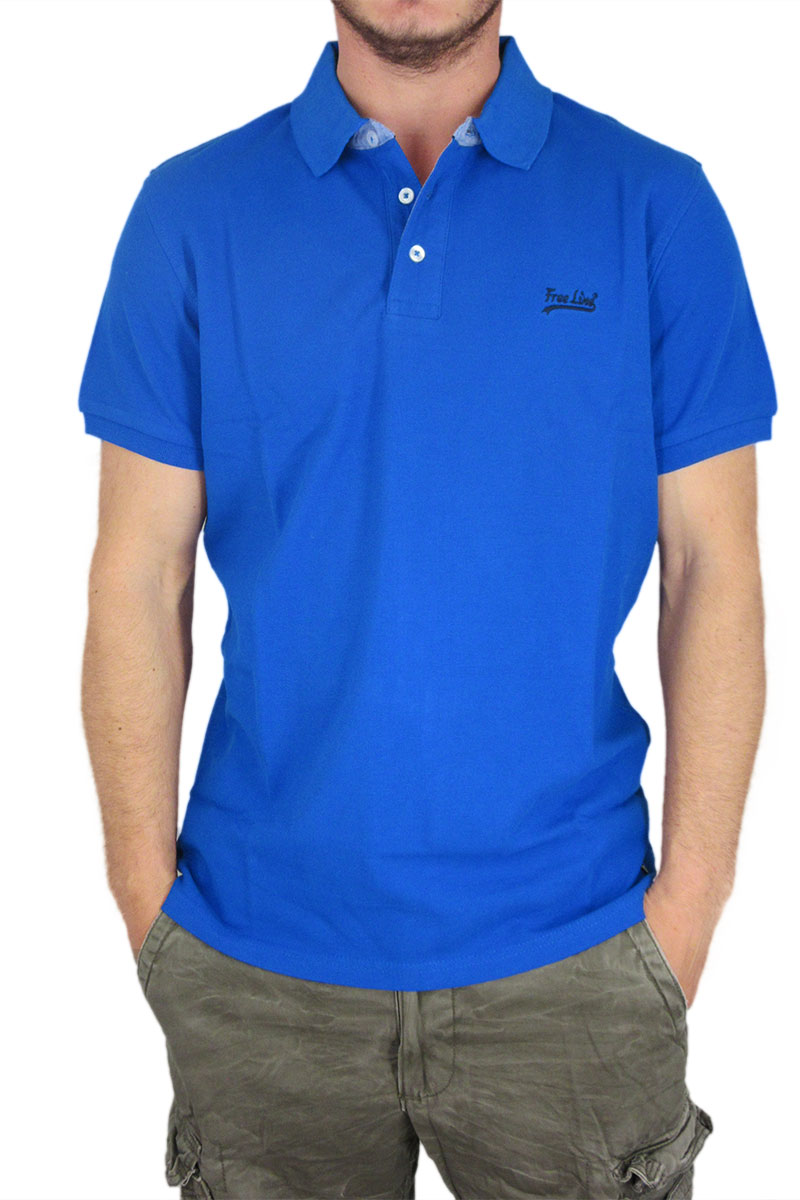 f79985ff79a4 Paperinos Ανδρική πικέ πόλο μπλούζα μπλε ηλεκτρίκ - 225-415-ble