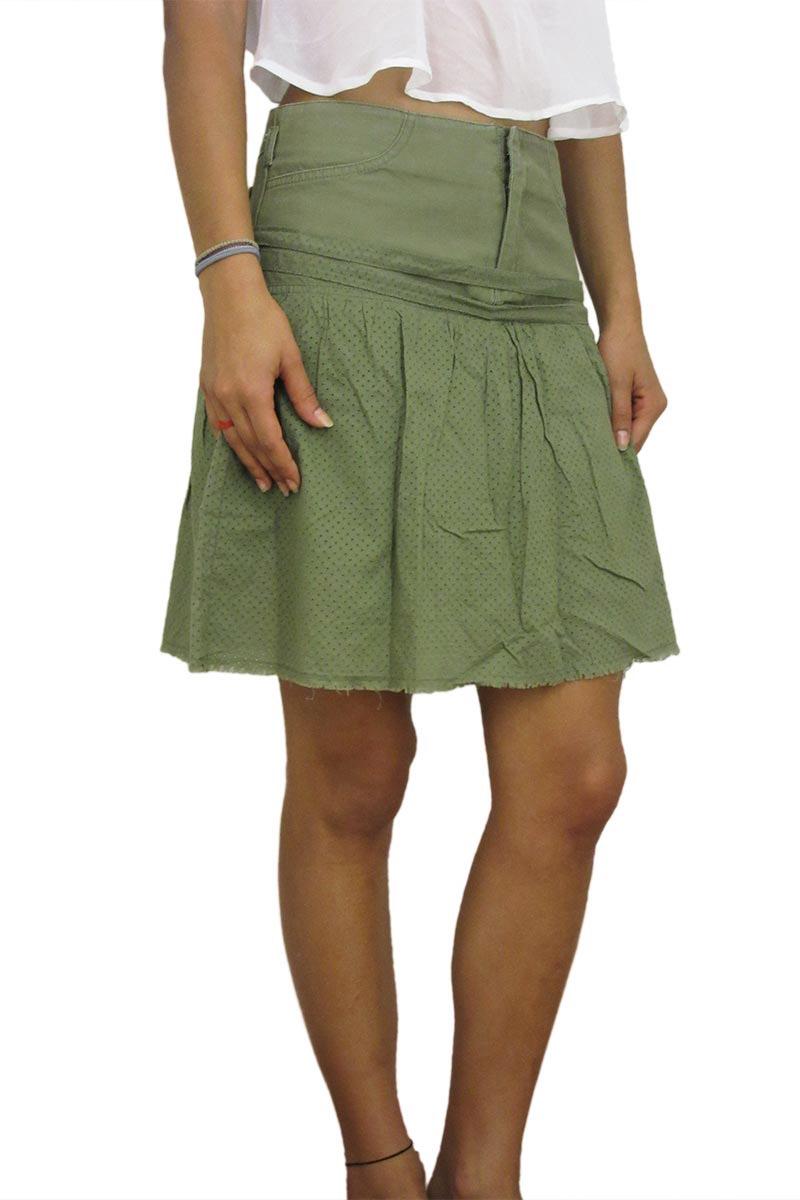 Insight μίνι φούστα χακί - 694124-kh