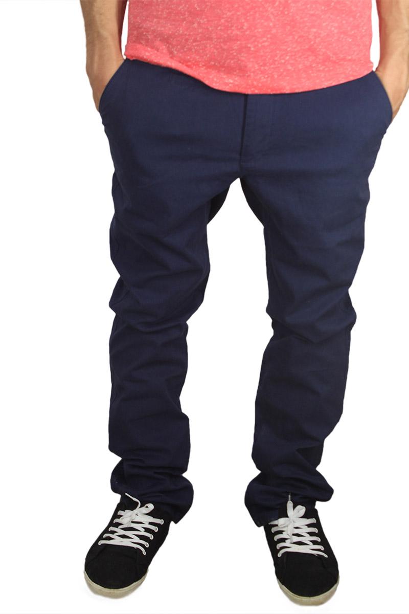 Ανδρικό slim fit chino παντελόνι σκούρο μπλε