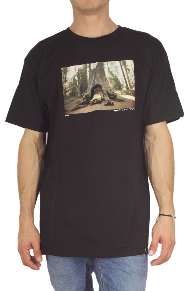 Huf ανδρικό t-shirt Family Acid - Sequoia Grage μαύρο
