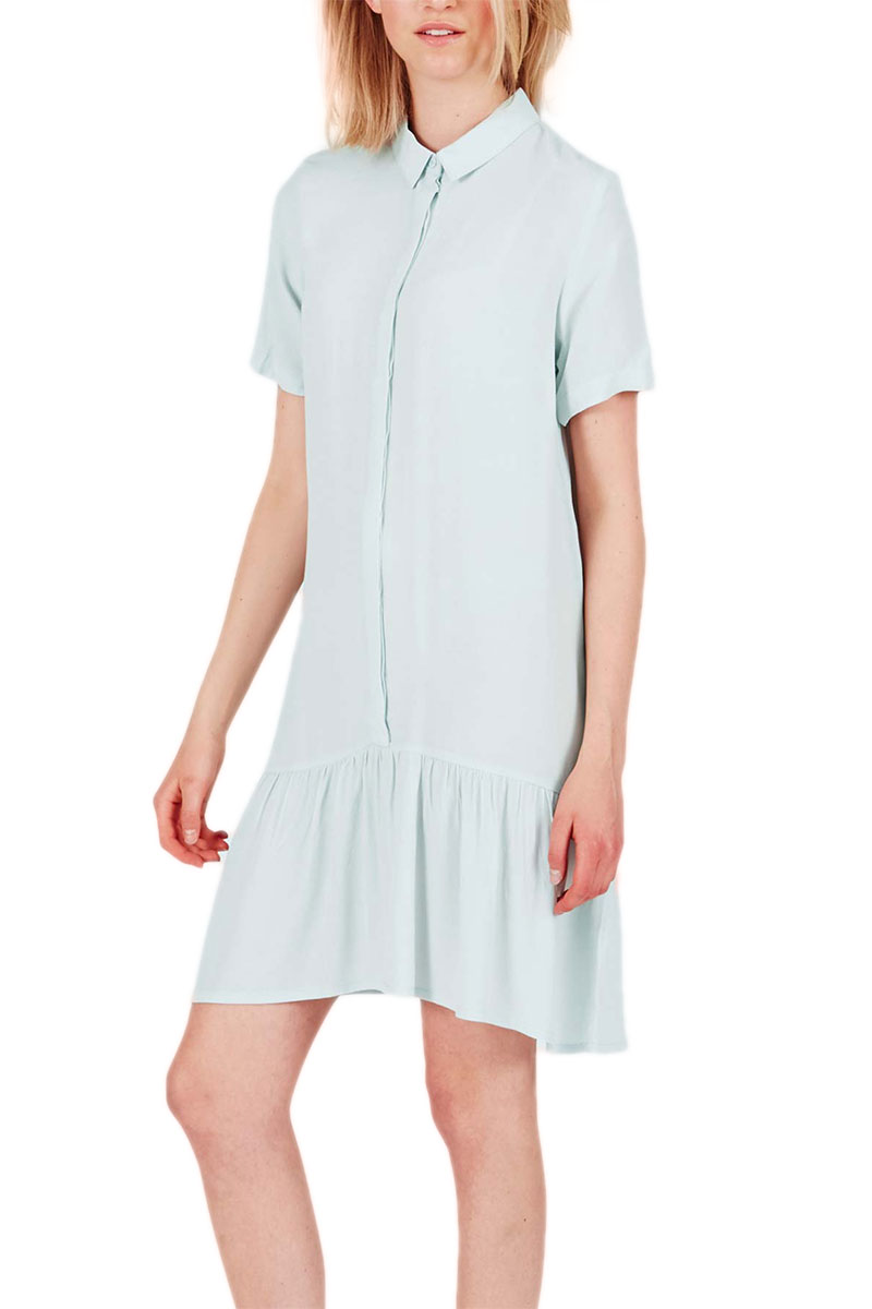 Minimum σεμιζιέ μίνι φόρεμα Cloe surf mint - 12330212
