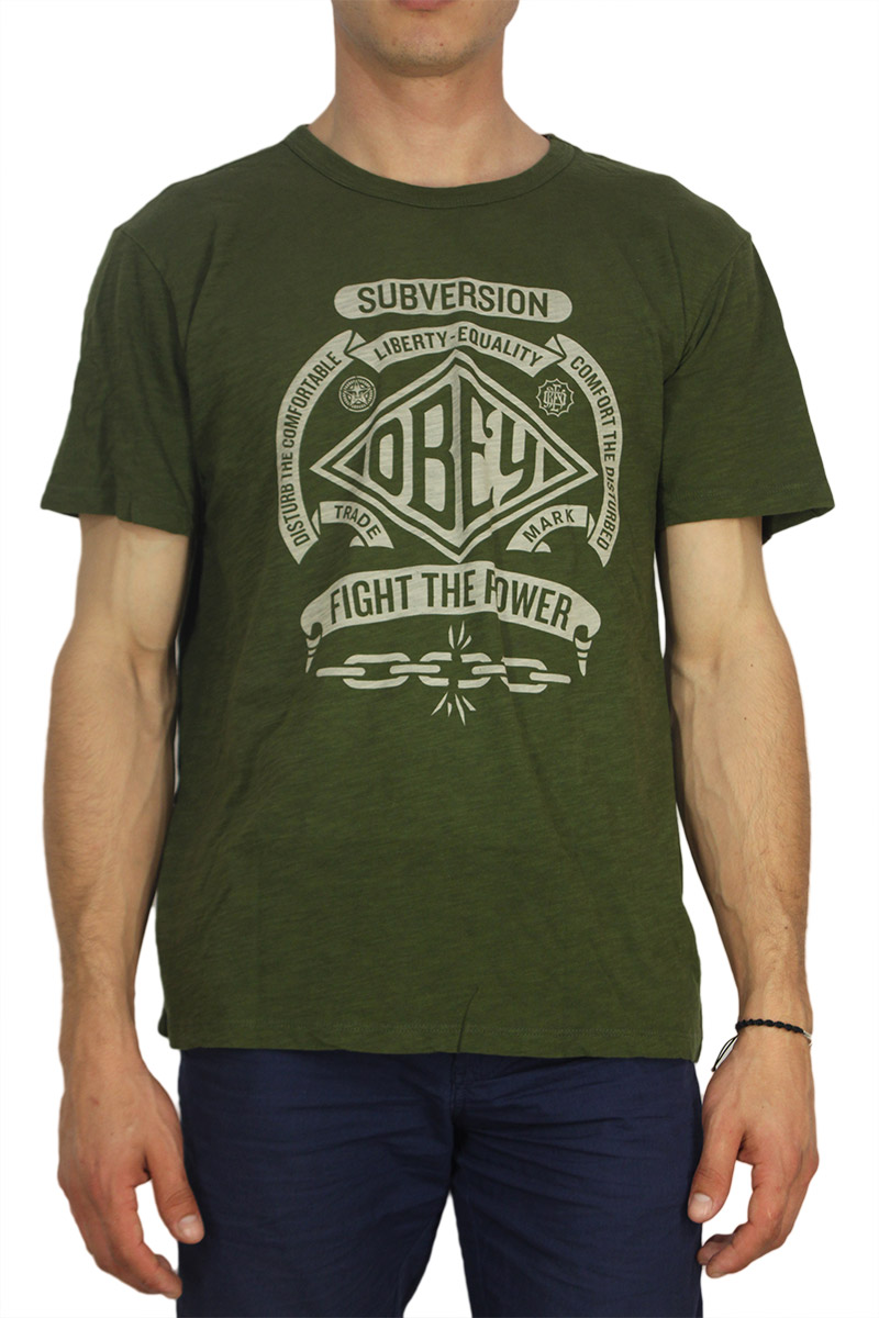 Obey ανδρικό T-shirt Disturb the comfortable army green