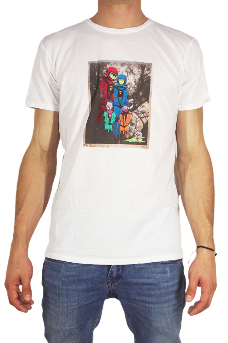 Obey ανδρικό t-shirt Earth 3016 λευκό