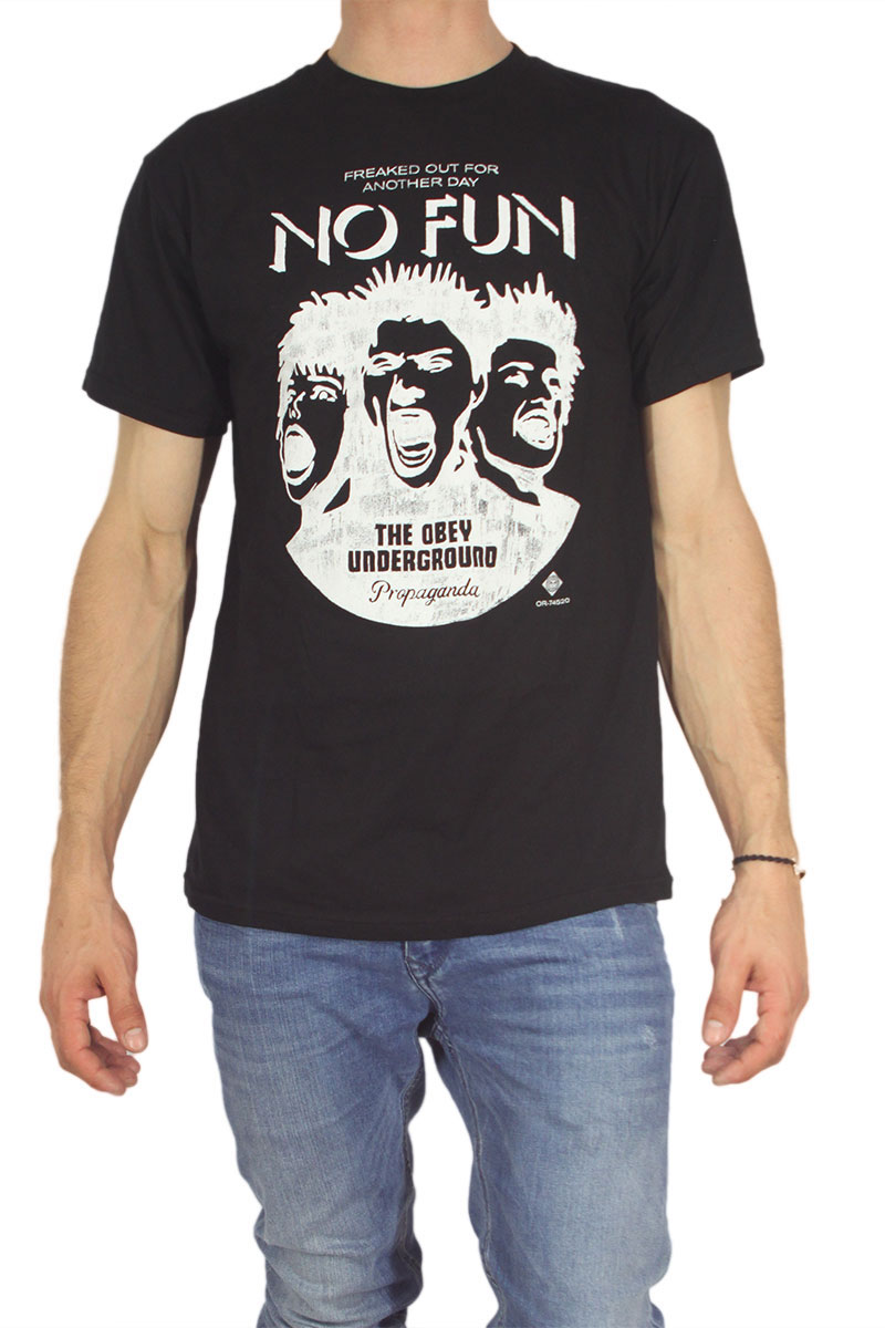 Obey ανδρικό t-shirt No fun black